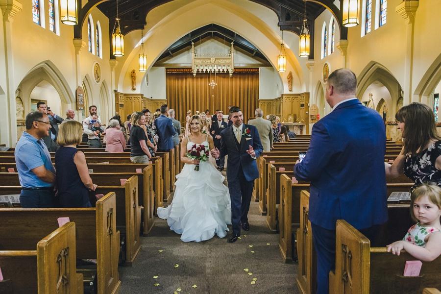 calgary summer wedding sacred heart church