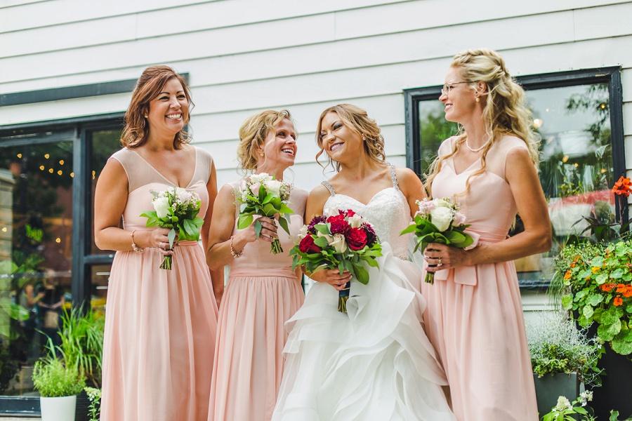 calgary summer wedding inglewood plant shop pink bridesmaid dress