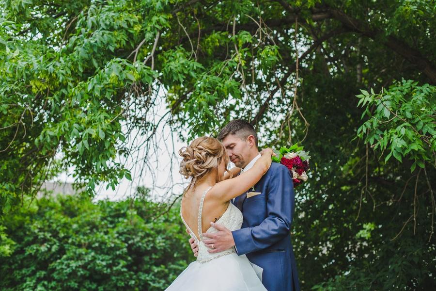 calgary summer wedding inglewood plant shop bride groom blue suit