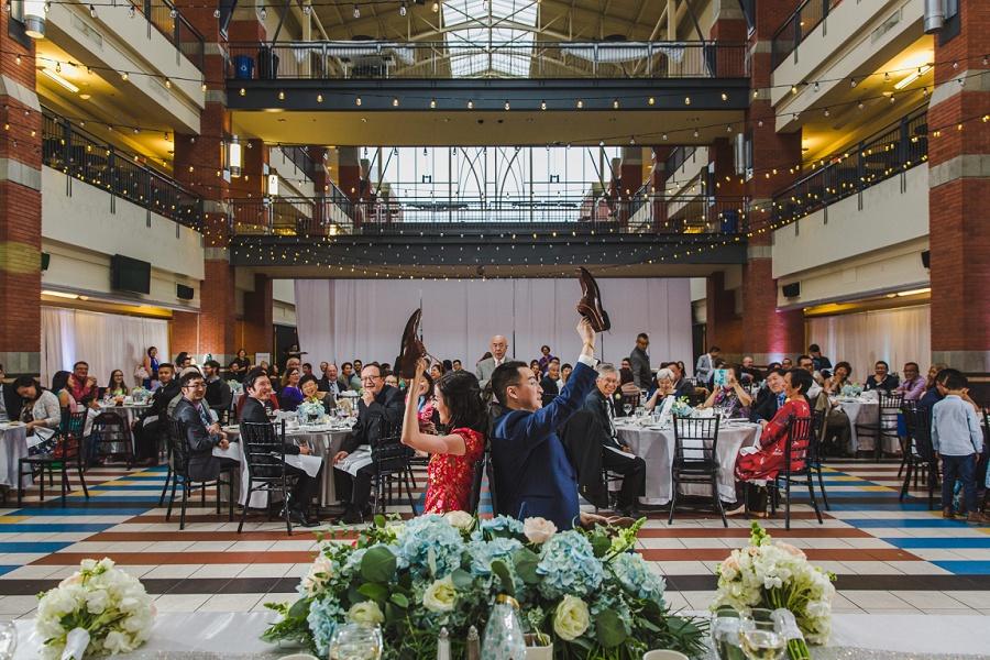 calgary chinese wedding photographers sait heritage hall shoe game hall