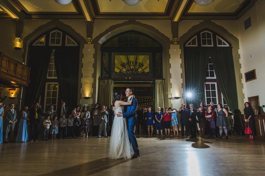 calgary chinese wedding photographers sait heritage hall first dance
