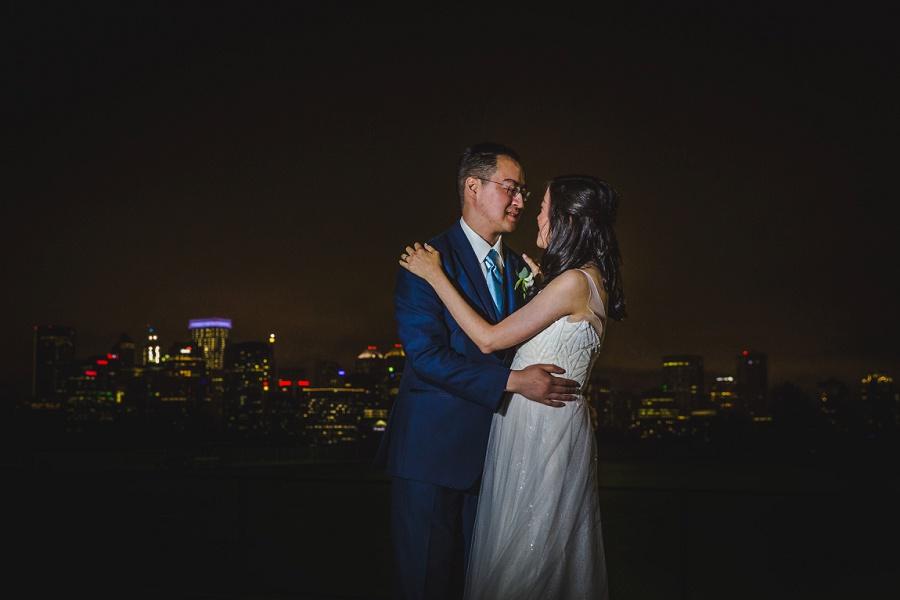 calgary sait heritage hall wedding chinese wedding night downtown