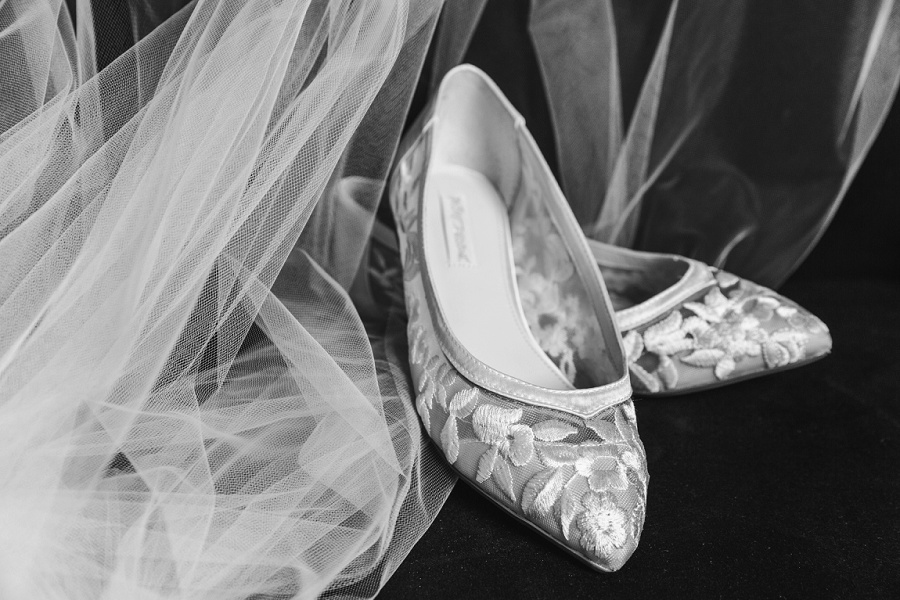 calgary wedding bridal shoes flats pointy toe