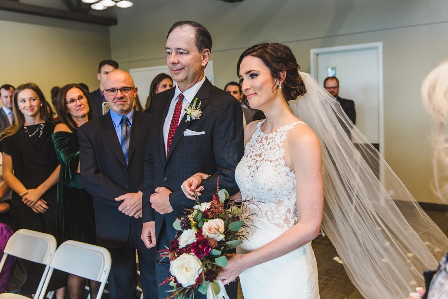 calgary pinebrook golf and country club wedding indoors