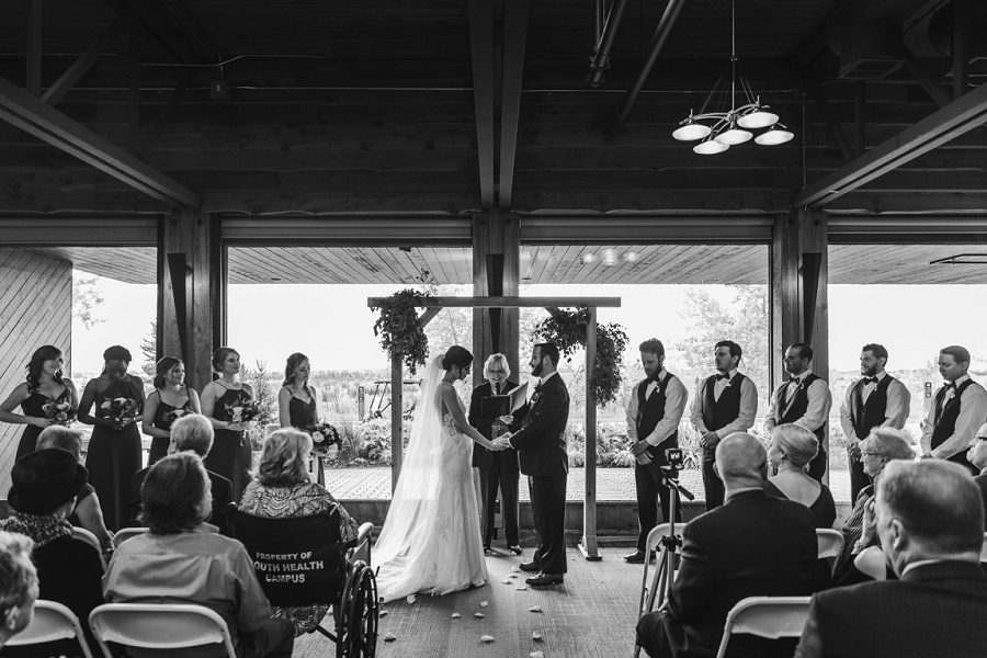 calgary pinebrook golf and country club wedding indoor ceremony