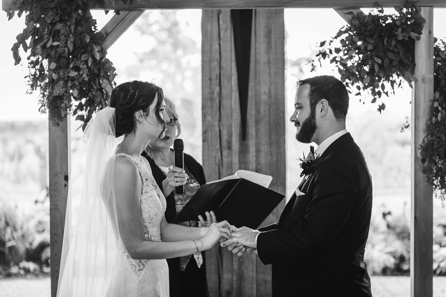 calgary pinebrook golf and country club wedding bride speech vows