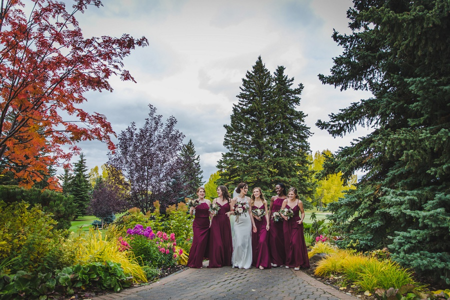 calgary pinebrook golf and country club wedding bridesmaids fall