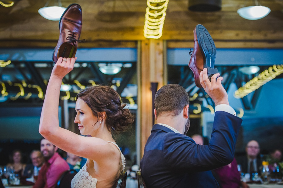 calgary pinebrook golf and country club wedding shoe game