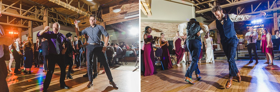 calgary pinebrook golf and country club wedding fun dancing guests