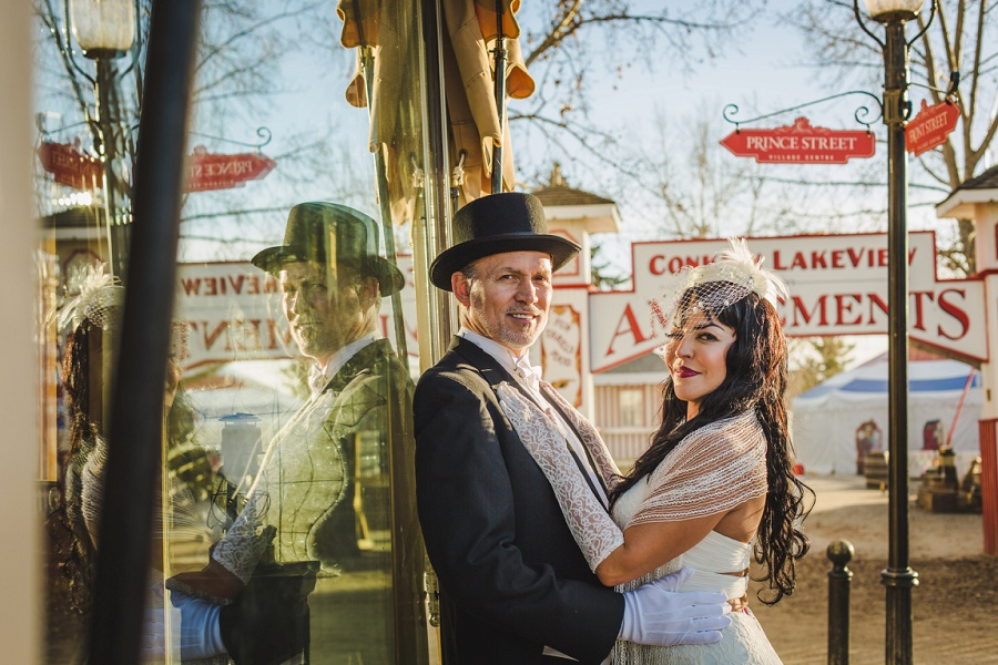 Daniela + Peter | Heritage Park Gasoline Alley Wedding
