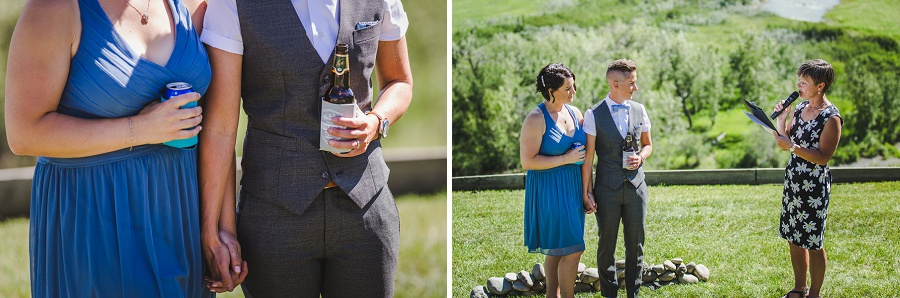 calgary riverview bed and breakfast wedding wildrose brewery reception same sex couple