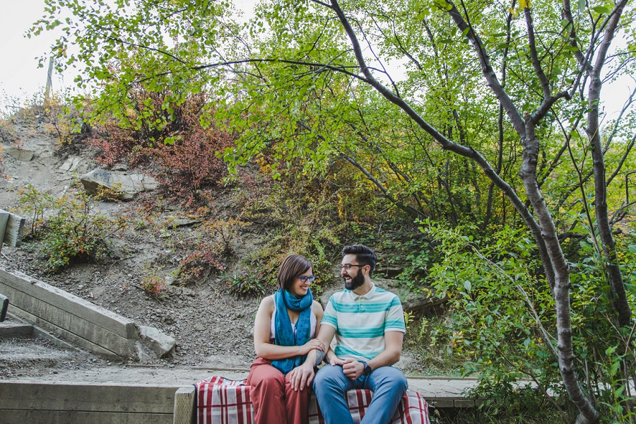 calgary bolder climbing community bowmony park engagement photo session